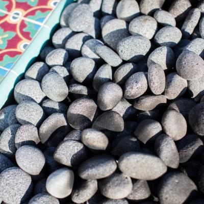 ceramic tile-stone firepit