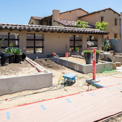 construction-feature wall-outdoor entertaining-in progress