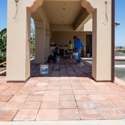 construction-outdoor kitchen-in progress