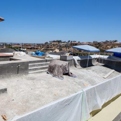 construction-swimming pool-in progress