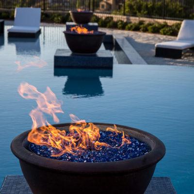firepit urn-swimming pool