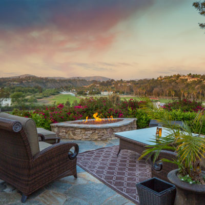 outdoor entertaining-lounge furniture-firepit-view