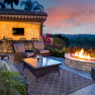 outdoor lighting-kitchen-firepit