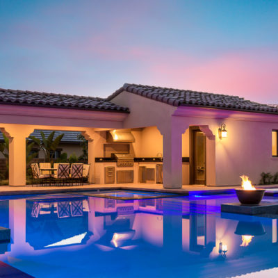 outdoor lighting-kitchen-pool