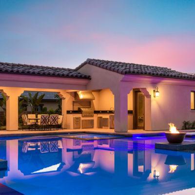 outdoor lighting-kitchen-pool