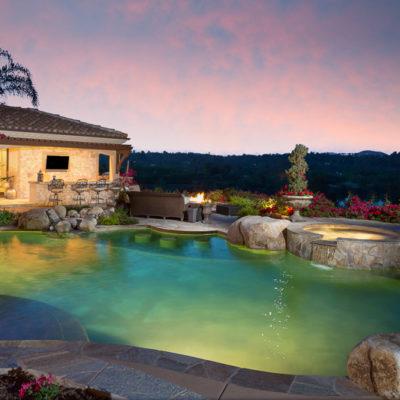 outdoor lighting-kitchen tv bbq-pool-spa