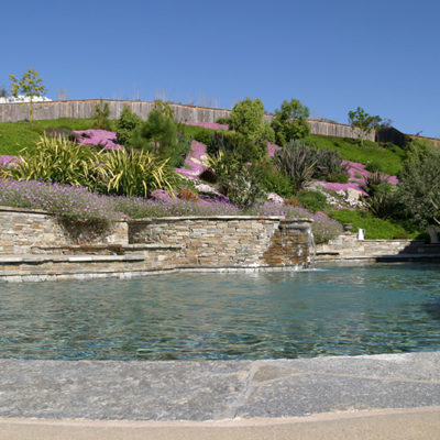 pool spa stacked stone