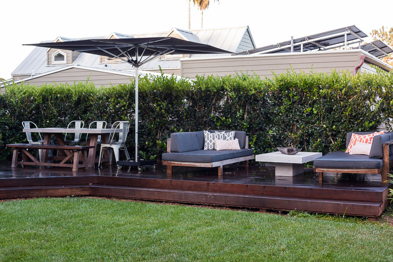 Wood Deck Outdoor Dining Furniture
